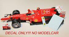 Decal Ferrari 800th GP F10 Turkish GP 2010 Hotwheels F1 1/43 Alonso Massa