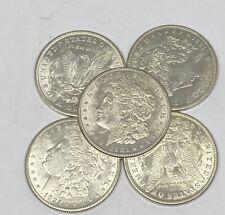 Lot of 5 1921 Morgan Silver Dollar Last Year 90% $1.00 AU - Almost Uncirculated