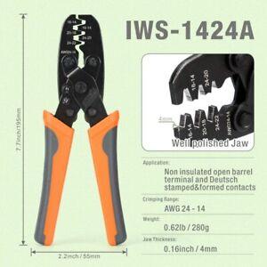 IWS-1424A Open Barrel Terminal Crimper Plier Tool for Molex Style Terminal