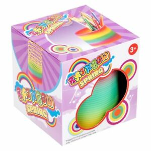 Rainbow Magic Spring Coil - Slinky Fun Toy Magic Strechy Bouncing Gift 3+y