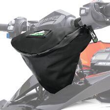 Arctic Cat Snowmobile Universal Black & Green Custom Handlebar Bag - 6639-716