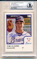 1986 Greenville Tom Glavine Rookie Autographed HOF Rookie Card Beckett