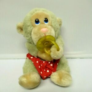 Russ Baby Chee Chee Monkey With Pacifier & Diaper Plush Stuffed Animal 7''