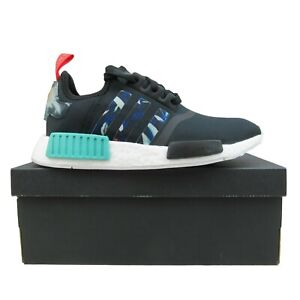 Adidas NMD R1 Womens Running Shoes Size 6.5 Black Floral Pack NEW FY3665