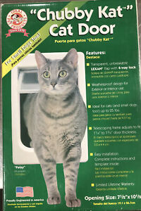 "Cat Pet Door Rigid Flap 7.5""x10.5"" Large Kitten Chubby Small Dog 25lb lockable"