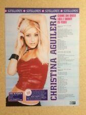 CHRISTINA AGUILERA Original Vintage TOTP Magazine A4 Song Lyrics / Poster