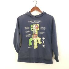"Jinx Kids Youth Navy Blue ""The Creeper"" Hoodie: Sz L"