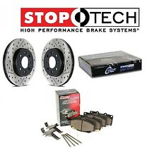 For Dodge SRT8 Pair Set of Rear Drill & Slott Brake Rotors & Metal Pads StopTech