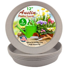 Austin Planters Polypropylene Plant Saucers Multi Pack – Heavy Duty, In/outdoor