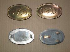 OVM Civil War puppy paw buckle & cart. box plate