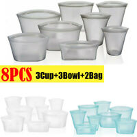 Multifunction Washable Zip Lock Leakproof Containers-Completely Plastic-Free