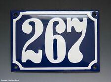Emaux, E-Mail-numéro de maison 267 in bleu/blanc pour 1960