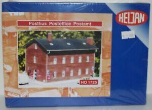 1:87 scale model railway scenery. Heljan Post Office. Pre-owned. Box unopened