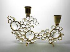 palwa leuchter kerzenständer messing brass 50er mid century candleholder glas