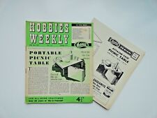 Hobbies Weekly with Portable Picnic Table Pattern June 26th 1957 n. 3217