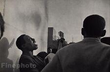 1969/72 Vintage 11x14 MUSIC BLACK NEGRO Man Guitar Singing Art By ANDRE KERTESZ