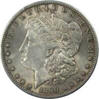 1890 S $1 Morgan Silver Dollar US Coin AU About Uncirculated