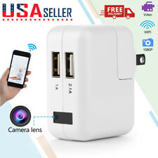 WiFi Full HD 1080P USB Wall Charger Mini Motion Hidden Camera Power Adapter