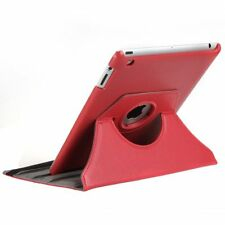 Red iPad 3 360 Degree Rotational Case Stand Cover Protects From Shock Dust