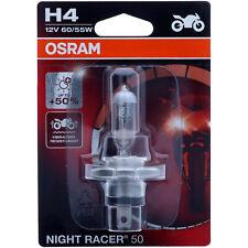 H4 OSRAM Night Racer +50 - mehr Performance Halogen Scheinwerfer Lampe Moto NEU
