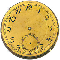GOLD DIAL VINTAGE GOLD PLATED POCKET WATCH FOR PARTS OR REPAIRS