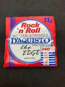 "D'AQUISTO Rock N Roll ""The Edge"" Extra Light 11-48 6-String Set #340"