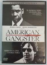DVD • American Gangsters EXTENDED EDITION CROWE WASHINGTON ITALIANO