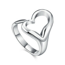 HOT 925 sterling Solid silver Plated Opening Love rings wholesale #172