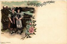 CPA  Gruss aus Elsass-Lothringen - Litho - Folklore - Types  (481488)