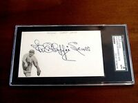 DUFFY LEWIS 3 X WSC RED SOX YANKEES LEFT FIELDER SIGNED AUTO INDEX SGC AUTHENTIC