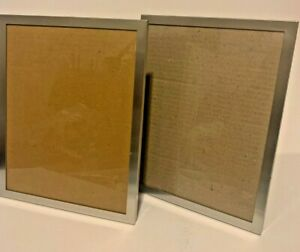 "Silver Color Picture Frames 8x10"" Set of 3 Velour Back Table Desktop Wall Shelf"