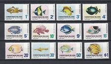 TIMBRE STAMP  12 ILE CHRISTMAS Y&T#22-33 POISSON FISH NEUF**/MNH-MINT 1968 ~A98