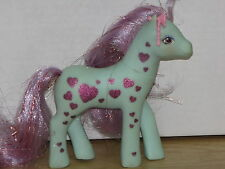 Vintage My Little Pony G1 STARFLASH Glittery Sweetheart Sister 1988 Blue Hearts