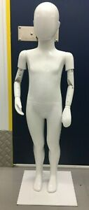 White Gloss Quality Unisex Kids Mannequin Age 4-6 Height