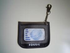 FOSSIL Kofferanhänger Gepäckanhänger Adressanhänger Baggage Tag grau gray grey