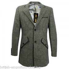 HOLLAND ESQUIRE mano personalizzati scisto Tweed Puppytooth AUTO Cappotto Giacca uk46 BNWT