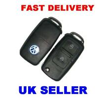 VW POLO GOLF PASSAT 2 BUTTON REMOTE KEY FOB + NEW BLADE