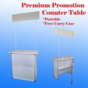 Promotion Counter Table Kiosk Aluminum Frame  Display Supermarket Demo Display