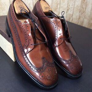 Vintage Jarman Benchmark Men's Shoes NOS J4130 Brown Blucher Ox Wing Sz 12C