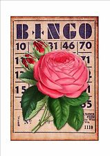 Bingo Card Vintage Style Bingo Metal Sign Wall Hanging Picture Lotto Sign