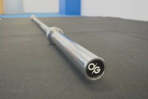 """7ft Olympic 2"""" Barbell 20kg Strength Gym Weightlifting 450kg Load Capacity"""