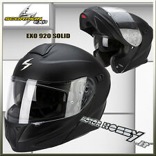 CASCO MOTO MODULARE APRIBILE SCORPION EXO 920 SOLID NERO OPACO TAGLIA L  (59-60)