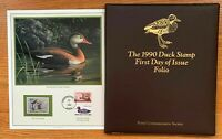 1990 US Federal Duck Stamp First Day of Issue Folio