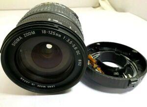 Sigma 18-125mm f3.5-5.6 DC AF Lens (parts or repair AS IS)
