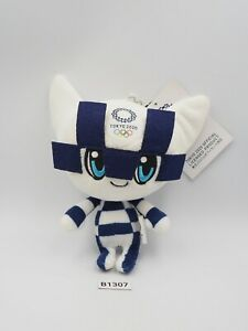 "Tokyo Japan B1307 Olympic 2020 Mascot Keychain Plush 6"" TAG Toy Doll Japan"