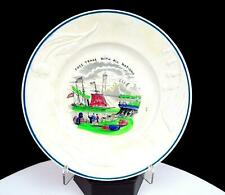 """J&G MEAKIN STAFFORDSHIRE STONEWARE FREE TRADE NATIONS 2.5"""" COLLECTOR PLATE 1850s"""