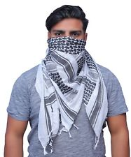 Shemagh Military Army Tactical White And Black Keffiyehs Heavyweight Scarf Deser