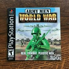 Army Men World War PS1 Playstation 1 PS One Instruction Manual Only