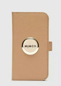 Bnwt MIMCO FLIP CASE FOR FOR IPHONE 11 PRO Caramel (11Pro) With Dust Bag