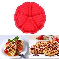 In silicone per waffle Pan Torta Cottura Al Forno Muffin Torta Cioccolato Stampo Muffa Vassoio Rosso